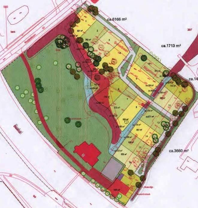 Kaart plan Cloese verlegging waterparij tuin Maart 2015 kl